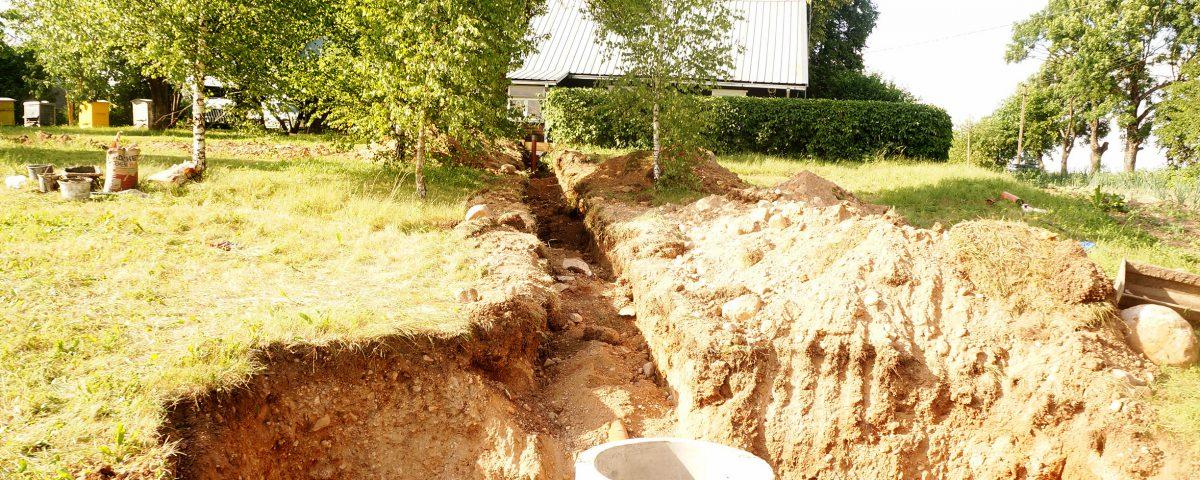 Kanalizacijos įrengimas sodyboje