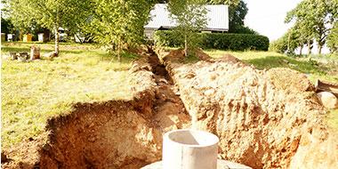 Kanalizacijos ivedimas i nama